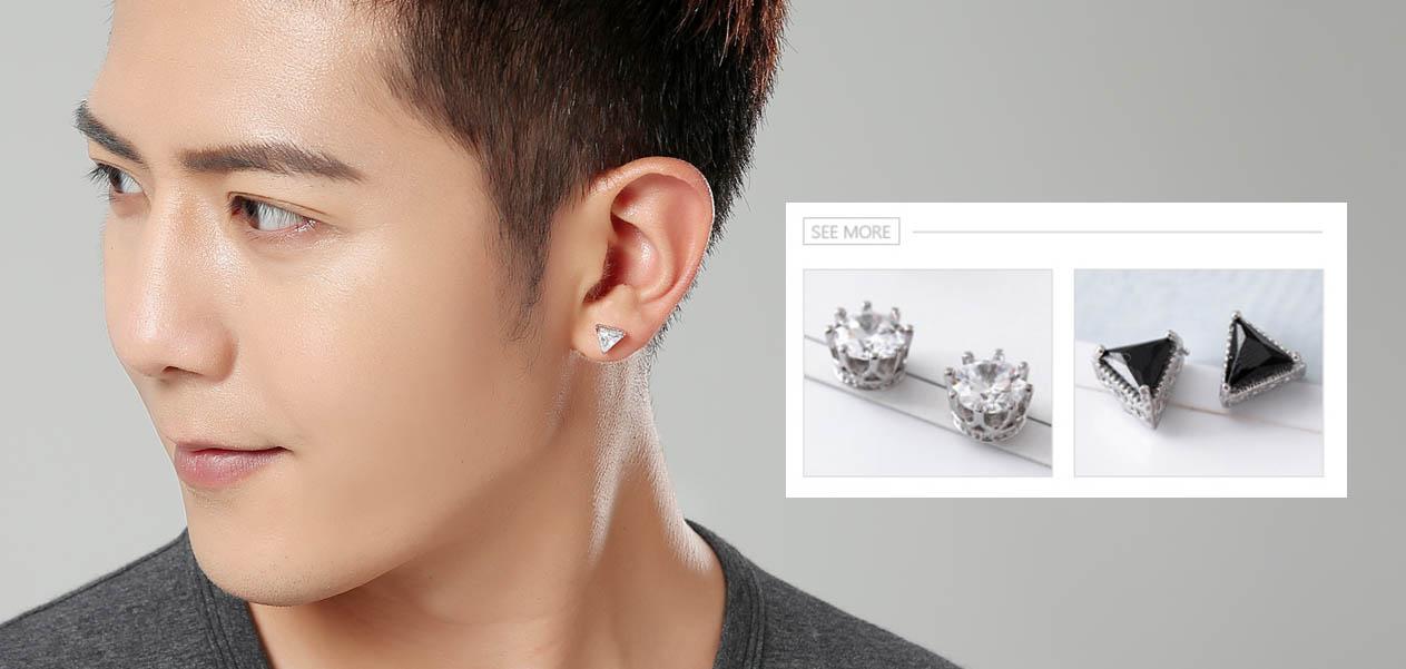 男生耳環-黏貼式耳環 | Sticker Earrings