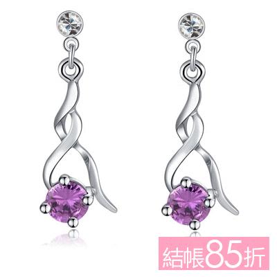 【結帳85折】高雅奢華耀眼水鑽 無耳洞黏貼式耳環
