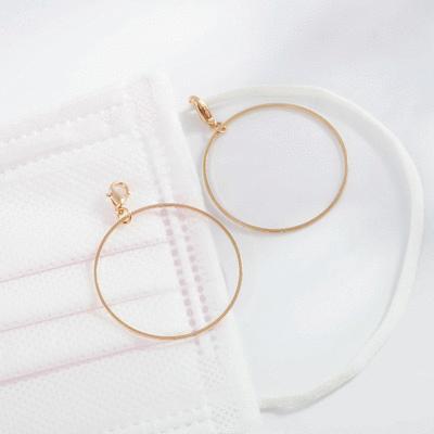 經典簡約金屬圓環口罩吊飾