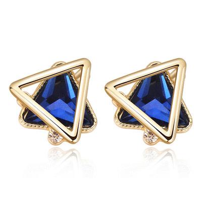 韓版時尚幾何三角 耳針/無耳洞黏貼式耳環