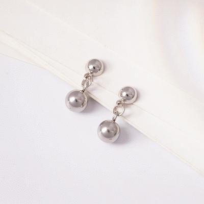 日韓極簡個性圓體 耳針/ 無耳洞黏貼式耳環