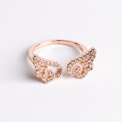 天使小羽翼開口戒指
