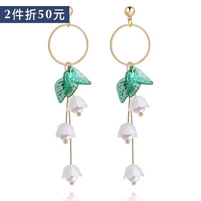 【2件折50元】文藝清新花朵 耳針/無耳洞黏貼式耳環