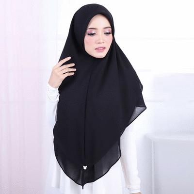 穆斯林珍珠雪紡方便套頭頭巾