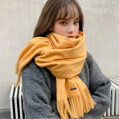 棉質流蘇長款圍巾