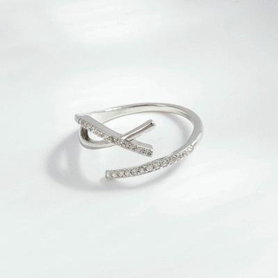 幾何線條的完美詮釋開口戒指