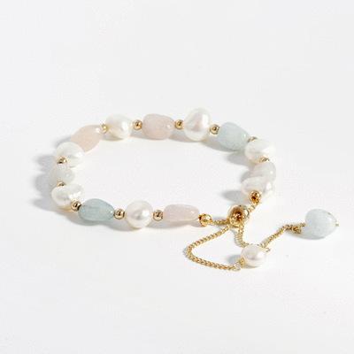 珍愛幸福天然晶石珍珠手鍊