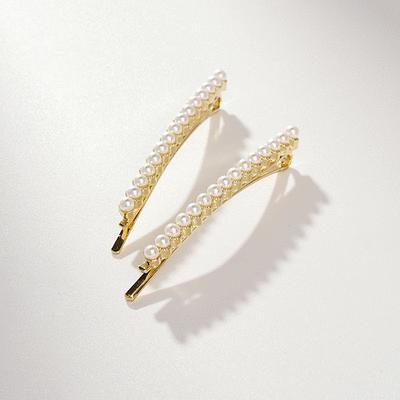 浪漫簡約珍珠一字髮夾