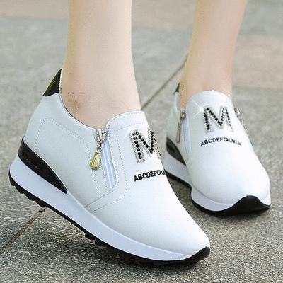 M字鑲鑽增高厚底懶人鞋
