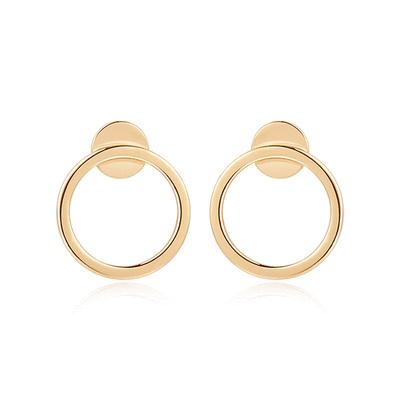 簡約小巧經典圓環 黏式耳環