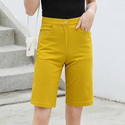 MIT台灣製造-春夏休閒涼感五分褲