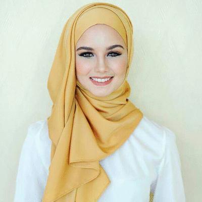 穆斯林仿真絲緞面基本款長頭巾