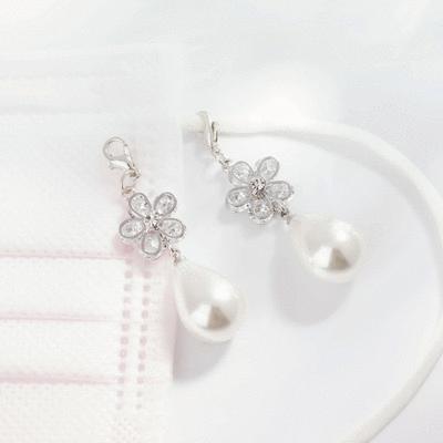 優雅甜美珍珠花瓣口罩吊飾