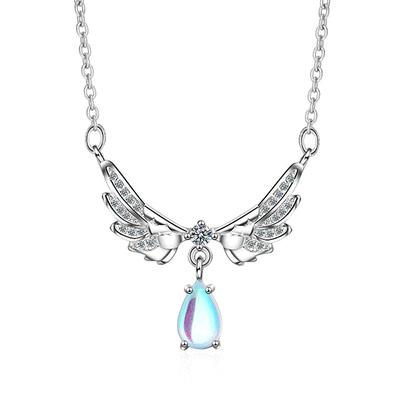 天使之翼月光石合金項鍊
