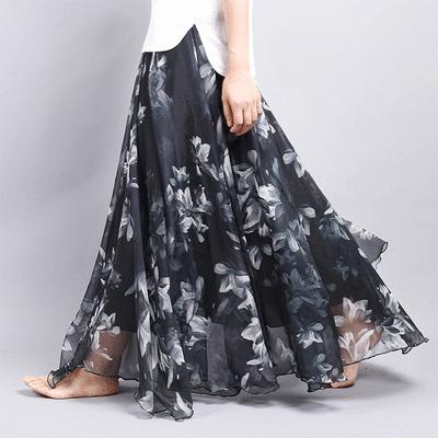 時尚波西米亞風雪紡長裙