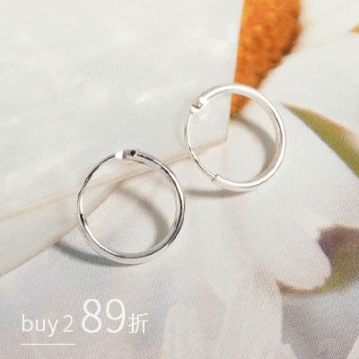 夢想的小圓圈經典時尚款 耳針耳環[純銀]
