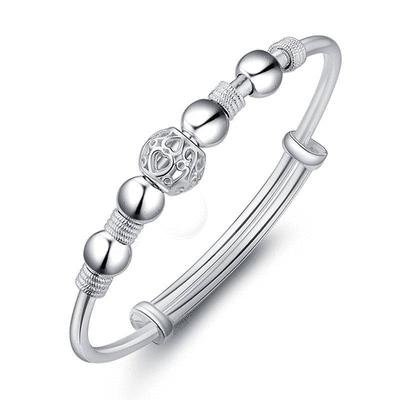 銀白合金轉運珠手鍊