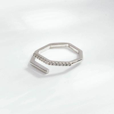 這是我的幾何時尚開口戒指