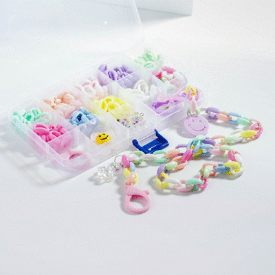 創意繽紛DIY口罩鍊/眼鏡鍊材料盒
