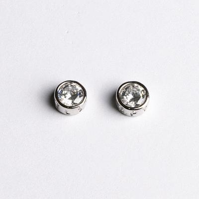 個性韓流圓形鑲鑽 無耳洞黏貼式耳環