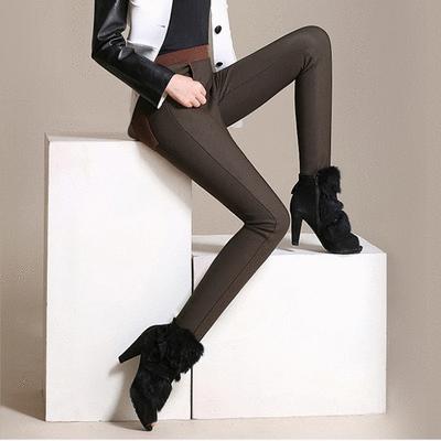 棉質高腰彈力休閒褲