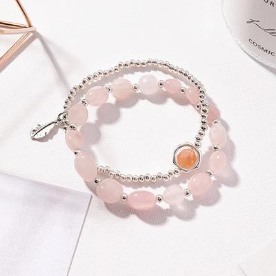 粉嫩水晶串珠手鍊