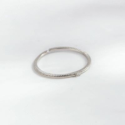 優雅纖細絕美鑲鑽開口戒指[純銀]