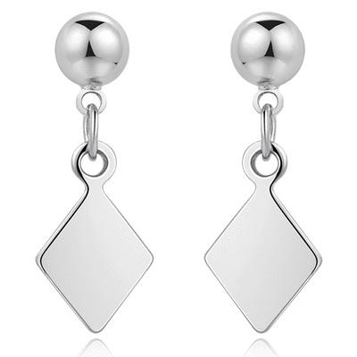 【專區3件85折】百搭簡約幾何菱形 耳針/ 無耳洞黏貼式耳環