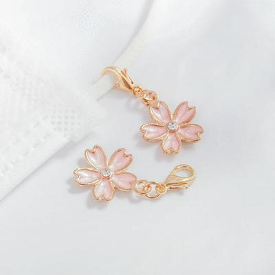 清新簡約鑲鑽櫻花口罩吊飾