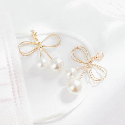 獨特簍空蝴蝶結珍珠口罩吊飾