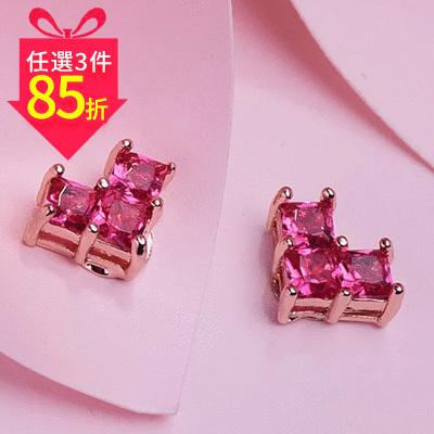 【專區3件★85折】迷你甜美少女愛心 黏式耳環