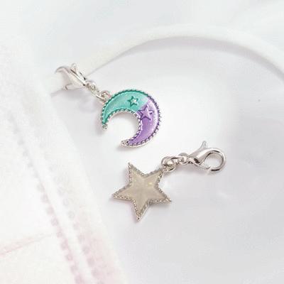 日系魔幻童趣星星月亮口罩吊飾