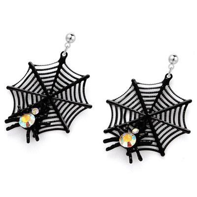 【16款】萬聖節限定-搞怪蜘蛛幽靈骷髏 針式/無耳洞黏貼式耳環