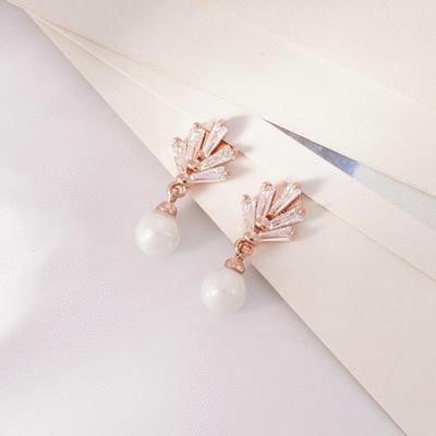 復古浪漫珍珠 無耳洞黏貼式耳環