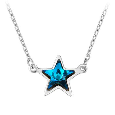 清新簡約蔚藍五角星項鍊