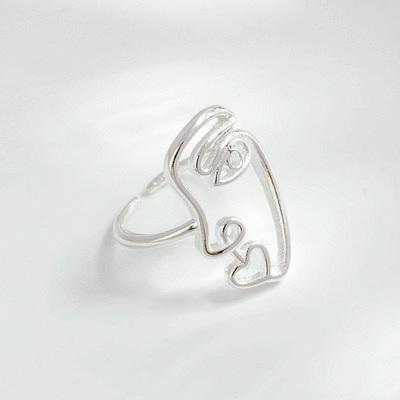 我的抽象派時尚開口戒指