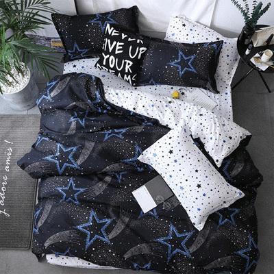 加大雙人床印花床包 - 四件套