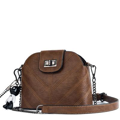 韓版V繡線小熊鏈條側背包