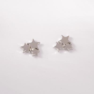 獨特率性三星 耳針/無耳洞黏貼式耳環