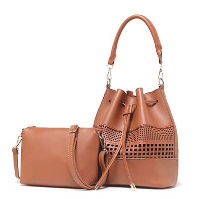 原創休閒鏤空子母手提包