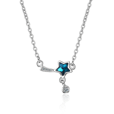 迷你可愛蔚藍流星合金項鍊