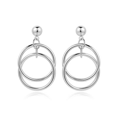 【專區3件85折】簡約百搭多層圓環 耳針/無耳洞黏貼式耳環