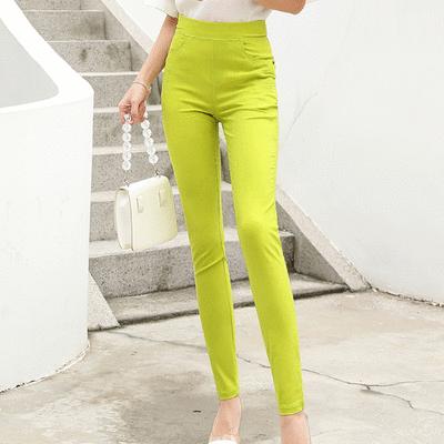 MIT台灣製-素面百搭彈性涼感長褲