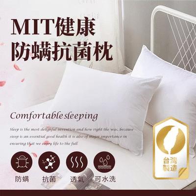 MIT台灣製健康防螨抗菌舒眠枕頭(單件)