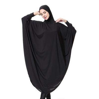 穆斯林純色套頭連衣長袍