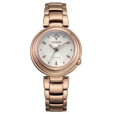 【CITIZEN 星辰】L系列光動能璀璨真鑽腕錶-30mm(EM0583-84A)