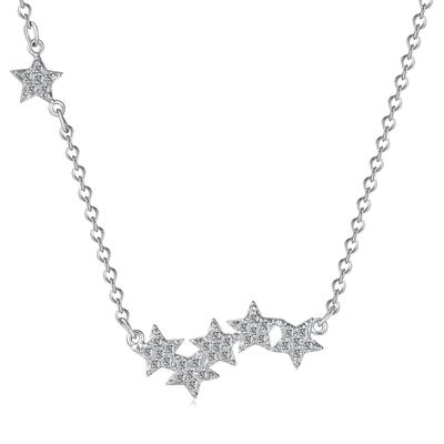 盛夏繁星質感鑲鑽S925純銀項鍊