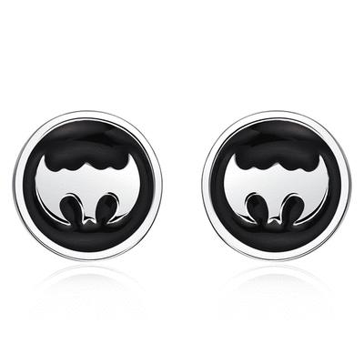 個性蝙蝠俠標誌 無耳洞黏貼式耳環