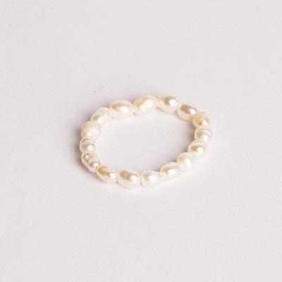 簡約隨性不規則珍珠戒指