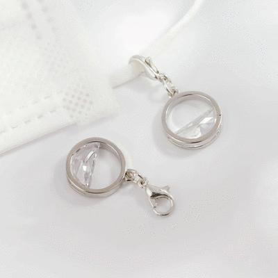 韓系優雅簍空半鑽口罩吊飾